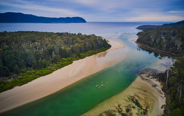 Bruny Island Aerial View